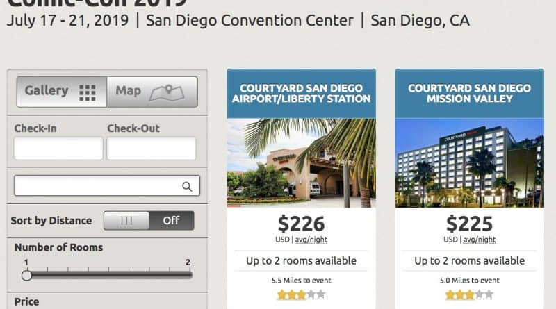 SDCC 2019 Early Bird Hotels Available