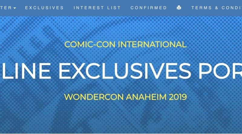 WonderCon 2019 Exclusives Portal Changes